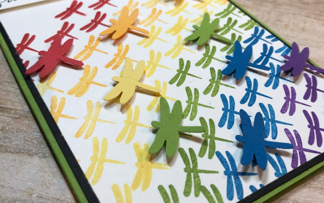 Rainbow Dragonfly – Stempel, Inkt & Papier bloghop