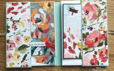 Fine Art Floral Kaartmapje met kaarten – Creatieve Harten Bloghop