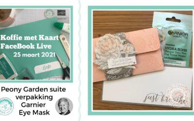 Peony Garden Suite verpakking voor Garnier Eye Mask