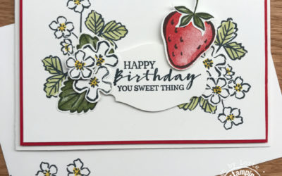 Sweet Strawberry kaart – Koffie met Kaart Facebook Live 15 april 2021