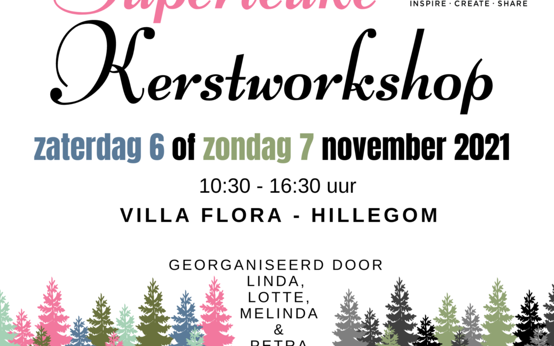 Superleuke Kerstworkshop 6 of 7 november 2021