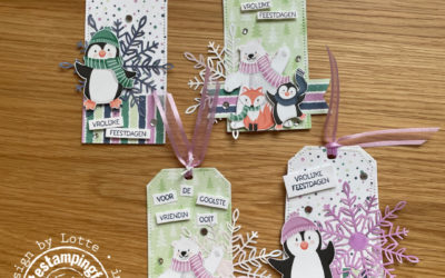 Schattige Pinguin labels